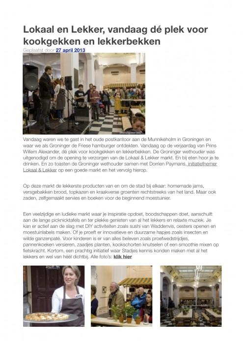 Artikel Focus Groningen 27-4